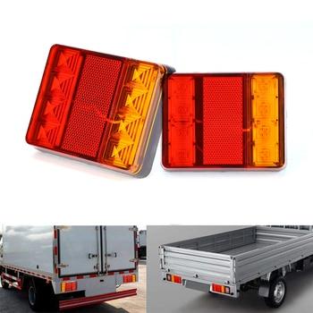 ae78e4dfa 2 piezas 12 V Luz de cola llevada impermeable del coche camión LED lámpara  trasera luces de advertencia para caravanas UTE los campistas ATV barcos