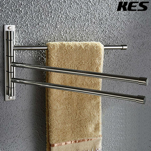 Kes Bathroom Swing Arm Towel Bars 3 Wall Mount Out Shelf