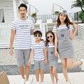 Nueva familia conjunto 2 unidades family clothing rayas madre/vestidos de padre e hijo madre e hija ropa family clothing sets kd14