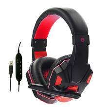 hot deal buy headset for gamer stereo headphones over ear gaming headband earphone with usb dual microphones for pc earphone drop shipping