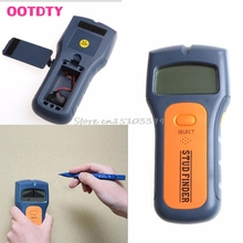 Wood Metal Wall Detector Multimeter Digital Pinpointer Vibrator Multi Stud Scanner Live Wire Cable Finder AC Hot 3 in 1