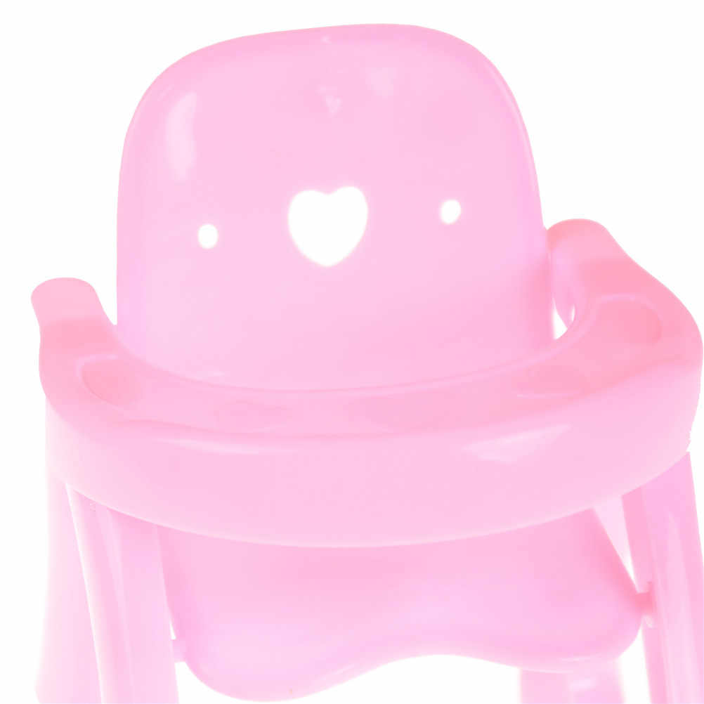 Hot Sale 1 Pcs Cute Pink dollhouse Dining Chair Doll Dining Chair Toy For Kids Gift Baby Dolls Accessories