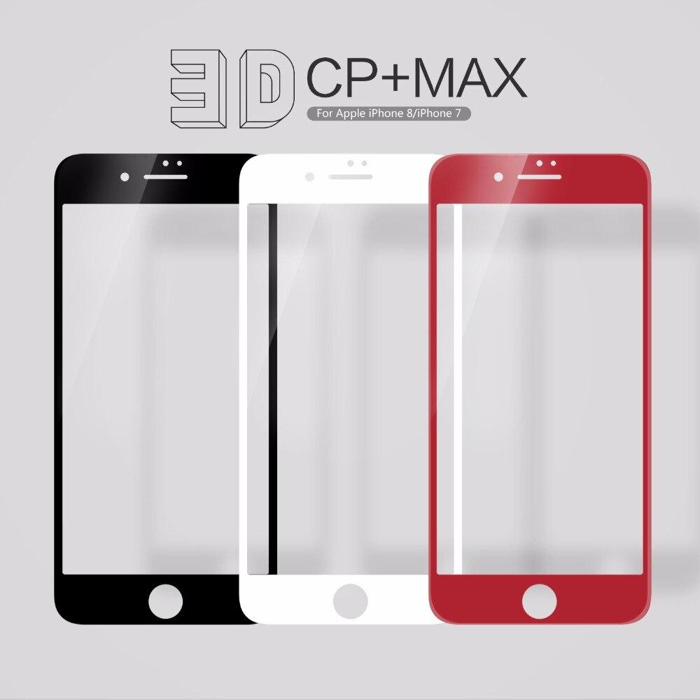 3D En Verre Pour iphone 8 NILLKIN Incroyable 3D CP + MAX Nanomètre Anti-Explosion Trempé Protecteur D'écran En Verre Pour iphone 8 7 6 plus