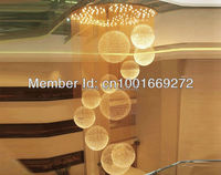 Modern Contemporary H250cm New Spiral Sphere Crystal Chandelier