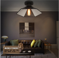 American country creative personality Wrought iron sitting room the bedroom hotel Fashion restaurant LEF absorb dome light