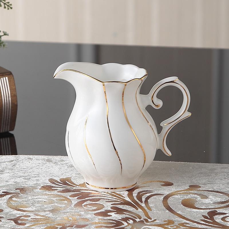 Europa Zlato Inlay Bone Kina Kava Set Britanski porculanski čaj Set - Kuhinja, blagovaonica i bar - Foto 5