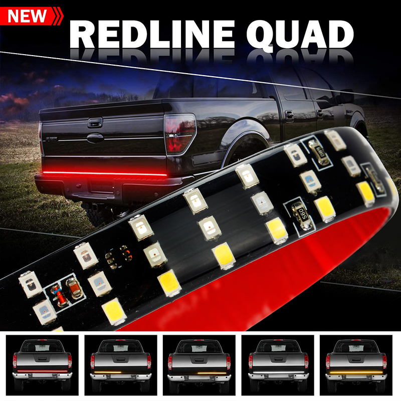 OKEEN 432LED  60 Truck Tailgate LED Strip Light Bar with Reverse Brake Turn Signal function for Jeep Pickup SUV Dodge FordOKEEN 432LED  60 Truck Tailgate LED Strip Light Bar with Reverse Brake Turn Signal function for Jeep Pickup SUV Dodge Ford