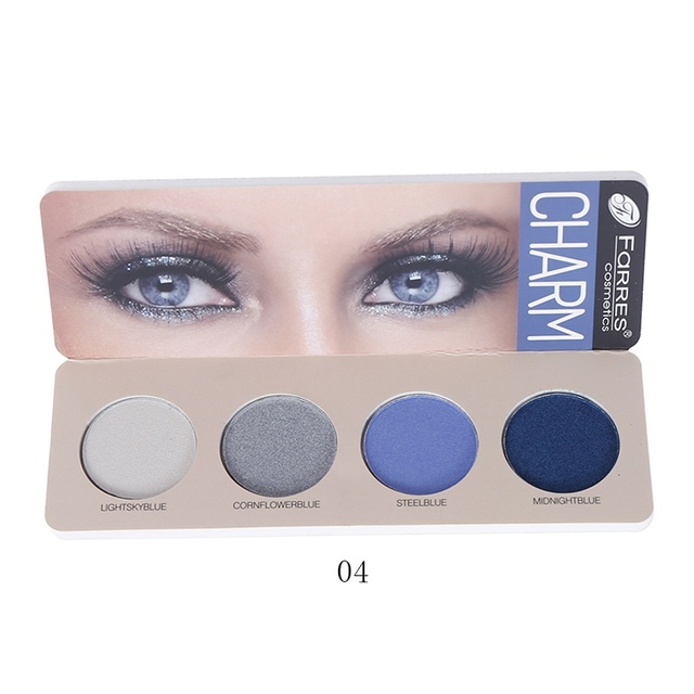 New 4 Color Eye Shadow Waterproof Smudge-proof Colorfast Eyeshadow Palette Beauty Makeup Cosmetic 3
