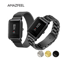 Wrist strap for Amazfit Strap Steel Belt Xiaomi Huami Bip Youth Smart Watch Metal Stainless Band