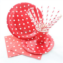 Disposable Tableware Polka Dot Design