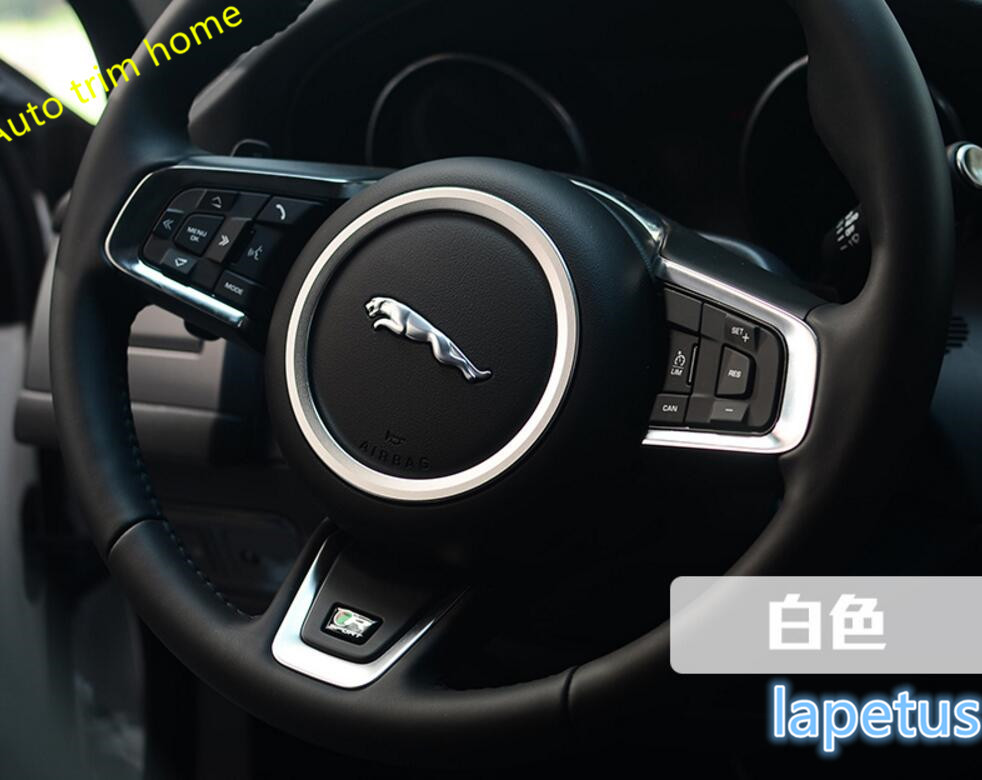 Lapetus Interior ! 3 Color For Choice ! For Jaguar F-Pace 2017 2018 Steering Wheel Decorative Molding Cover Trim 1 Pcs