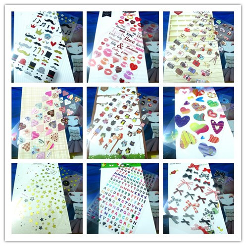 (24 Styles can Choose) DIY Scrapbooking Paper Kawaii 3D SONIA Stickers Birthday Wedding Album Decoration Crafts