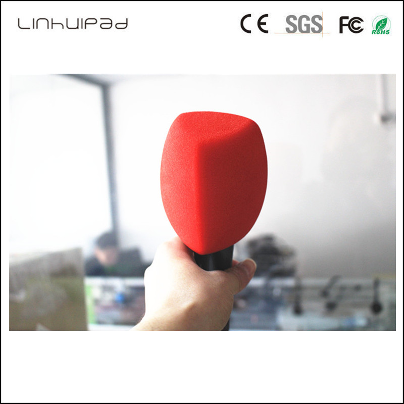 3 Color Triangle Interview Mic Foam Windscreen Handheld Windshield For TV Station Broadcasting Video Mic Insider:Diamete 4 CM
