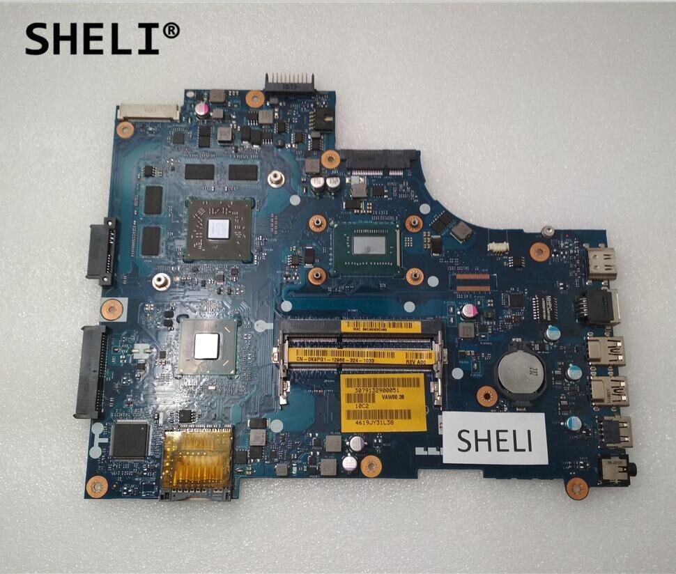 SHELI For Dell 15R 3521 5521 Motherboard with I3-3227U LA-9101P CN-0K9PG1 0K9PG1 K9PG1