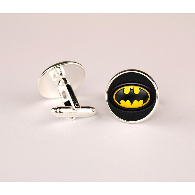 Hot! Superhero Justice League Flash Green Lantern Cuff Sleeve Button