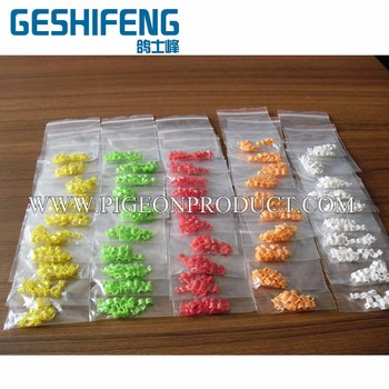 Colorful 8mm 100pc plastic  pigeon rings
