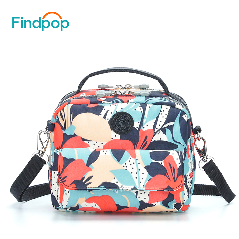 Findpop Flowers Printing Small Backpacks Bags For Women 2018 Fashion Nylon Backpacks Mochilas Multifunction Waterproof Backpacks findpop mochilas mujer 2017 famous brand backpack women waterproof nylon school bags student backpacks fashion casual trave bags