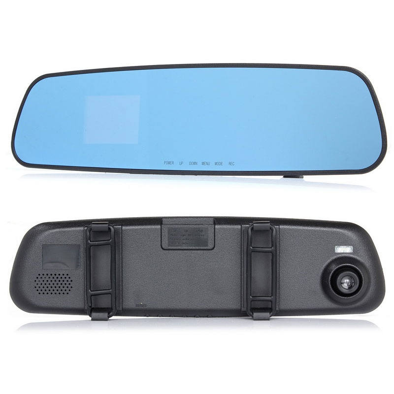 2016 good quality newest HD dash car camera dvr parking rearview mirror video recorder with <font><b>night</b></font> vision front camera mini dvr