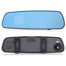 2016 good quality newest  HD dash car camera dvr parking rearview mirror video recorder with night vision front camera mini dvr