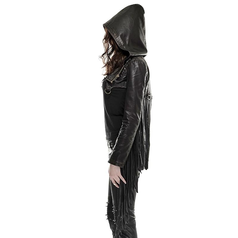 En Mode Manteau Capuchon Gland Veste Rock À Punk Y Courte Rave De Steampunk Femmes Nouveauté Black Cuir Personnalité Rivet 667 PaZIqF8Z