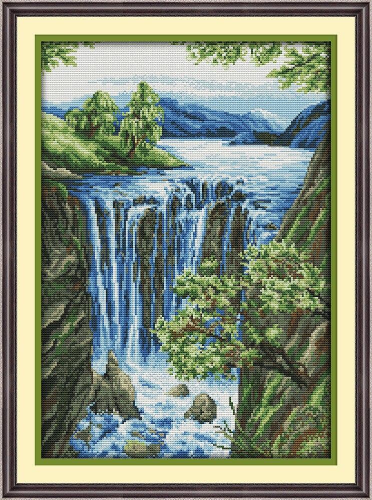 Вышивки крестом наборы водопады