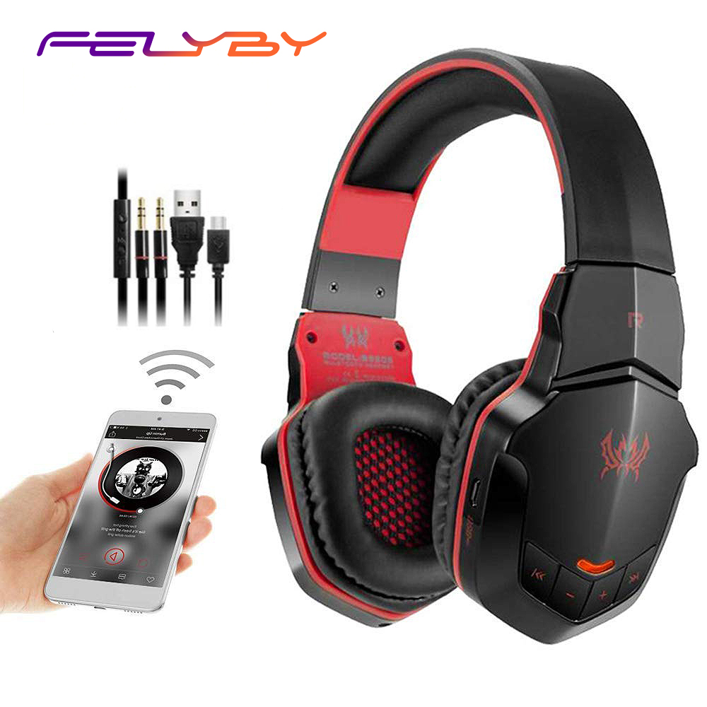 $36.98 FELYBY B3505 Wireless Bluetooth Stereo Gaming Headset with USB 3.5mm Plug with Mic for iPhone/Ipad/Tablet PC