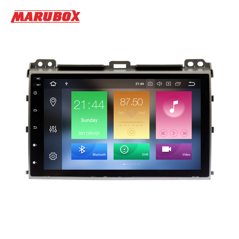 MARUBOX 2 Din Android 8.0 Eight Ocre 4GB RAM For Toyota Prado 120 Land Cruiser 9 IPS GPS Radio Car Multimedia Player 9A107PX5 silverstrong 2din ips dsp android7 1 gps car radio for toyota prado 120 for lexus gx470 car gps land cruiser prado 120 ips dsp