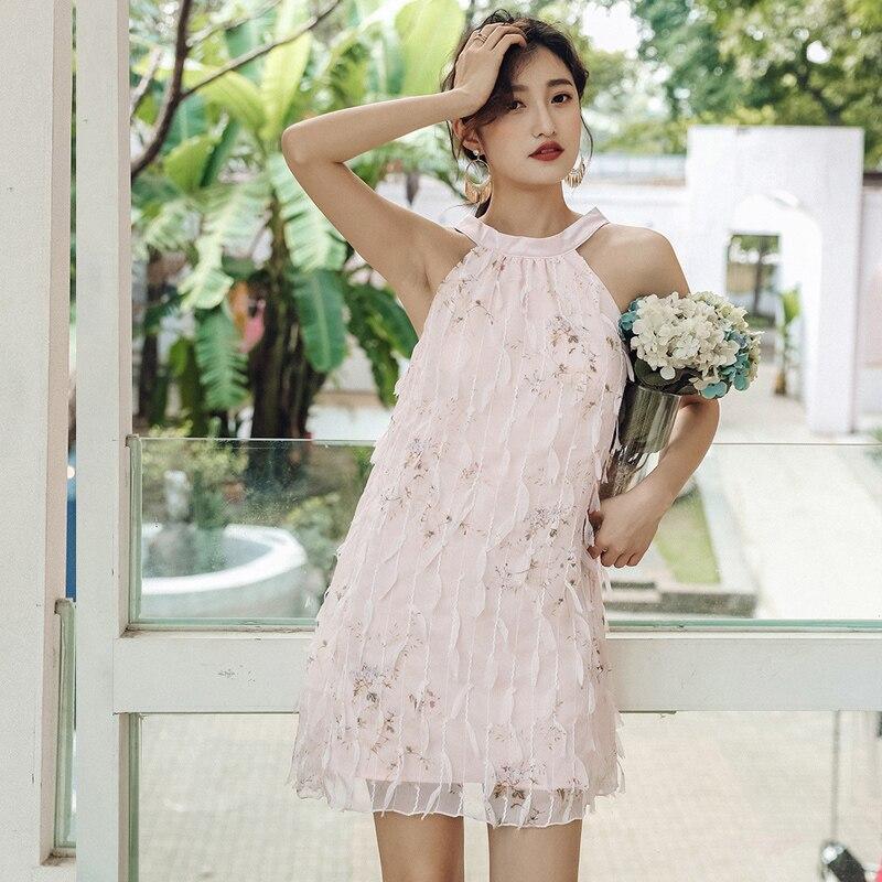2019 nouvelle rue fée robe été femme était mince Maldives plage robe loisirs Hainan Sanya bord de mer vacances