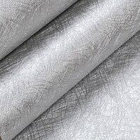 Modern PVC Vinyl Papel De Parede Plain Wallpaper Wall Coverings Solid Color Silver Grey Decoration For