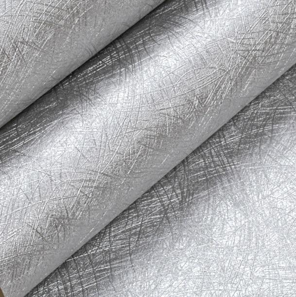 Moderno pvc vinilo revestimientos de paredes papel de for Papel pintado color plata