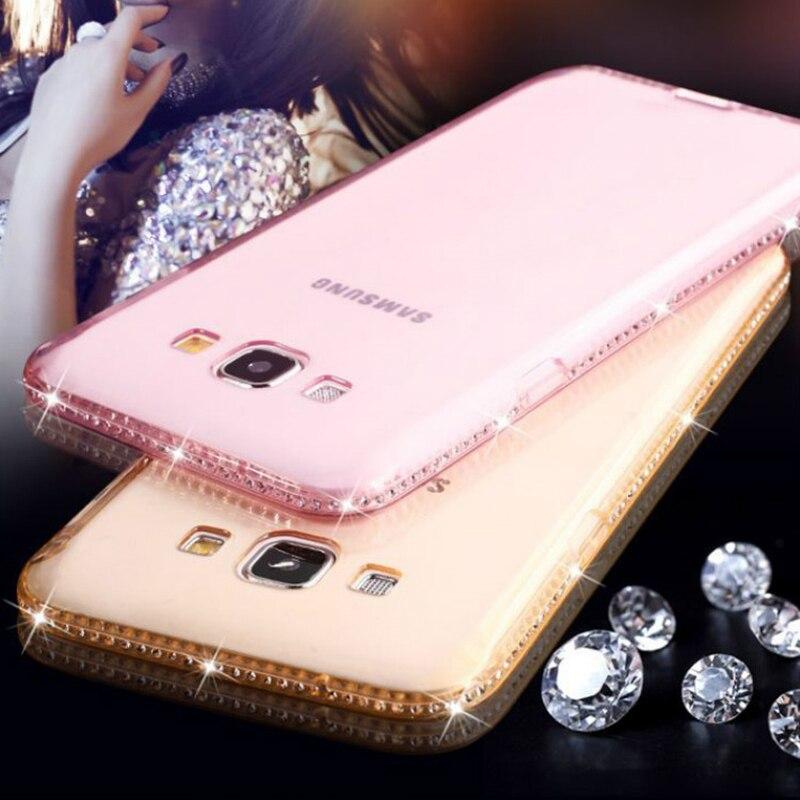 For Samsung Galaxy S6 S7 Edge S8 S9 Plus Case Silicone Diamond Fashion Cover for Samsung Galaxy J3 J5 J7 2017 A3 A5 A7 2016 Case