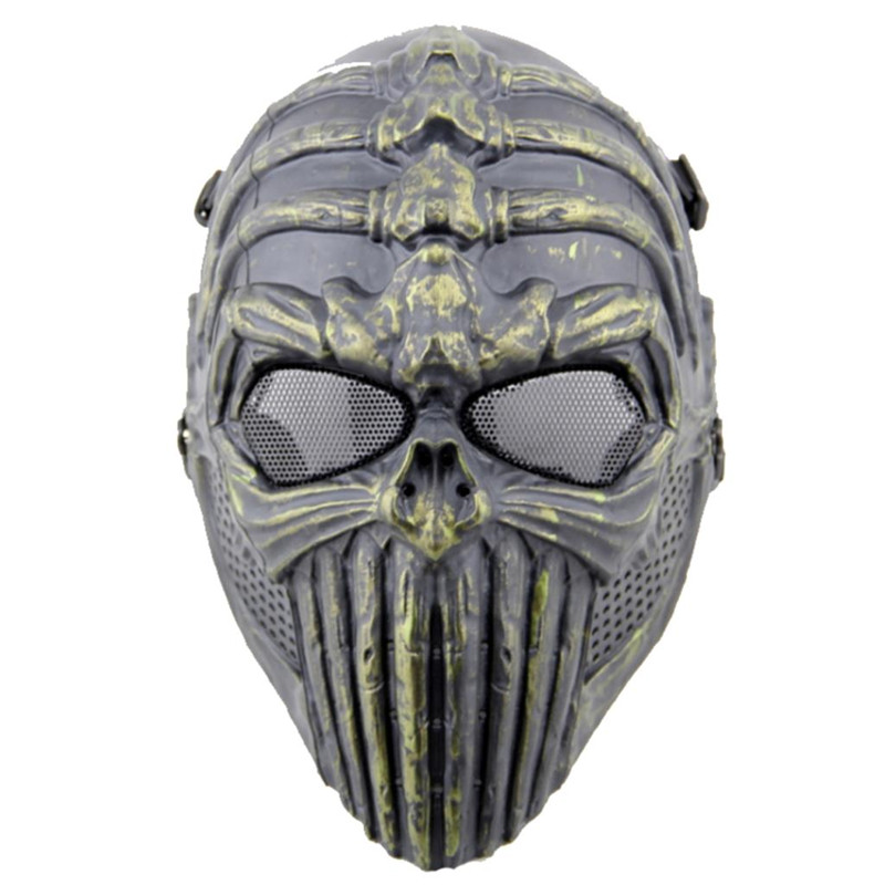 DC07 Tactical Spine Tingler Skull Skeleton Full Face Airsoft Mask Military Paintball Wargame Cosplay Halloween Party Protection