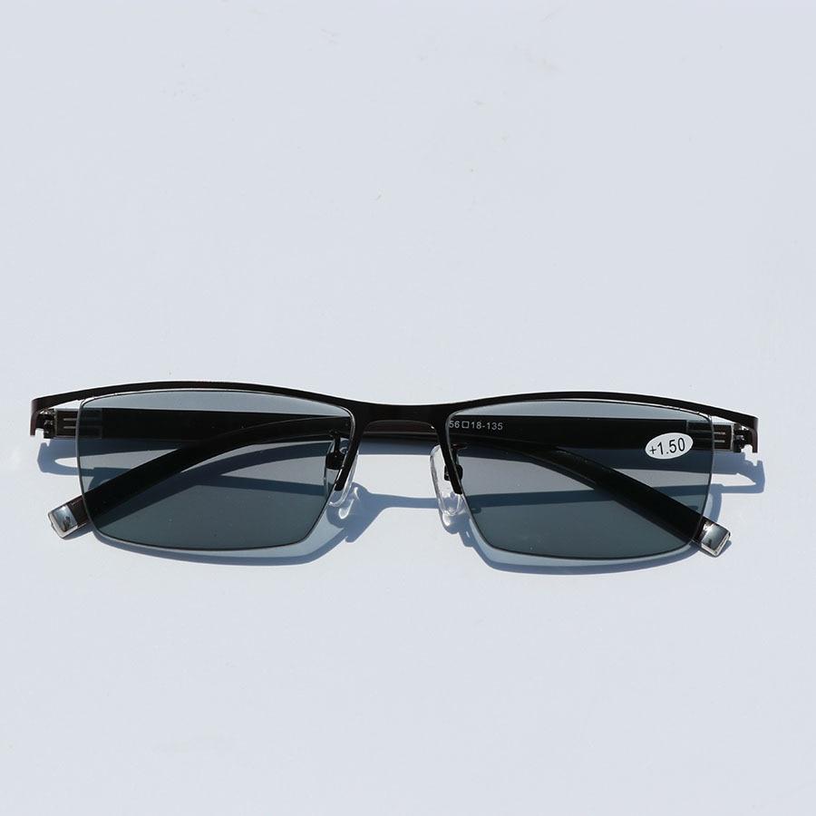 Image 3 - Mens Business Intelligent Discoloration Presbyopic Glasses Metal Alloy Plate Glasses Photochromic Presbyopic Myopia GlassesMens Eyewear Frames   -