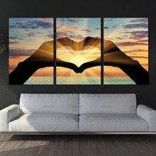 Картина на холсте, настенные художественные украшения, океанские сердечки, модульные картины на стене, модульные настенные картины, масляная живопись
