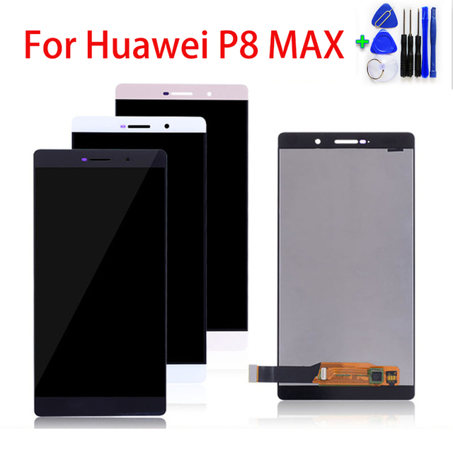 6.8 pollici Per trasporto libero di Huawei P8 Max DAV 703L P8Max Display LCD Touch Screen Digitizer Assembly di Riparazione Parti di Display LCD Nuovo Trasporto regalo