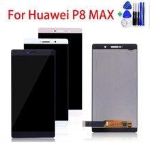 Tela de 6.8 polegadas para huawei p8 max DAV 703L p8max, display lcd touch screen digitador peças de reparo para montagem display lcd presente
