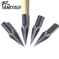 6pcs Archery 8mm Tips Point For Traditional Broadheads Wooden And Bamboo Arrows Hunting Shooting
