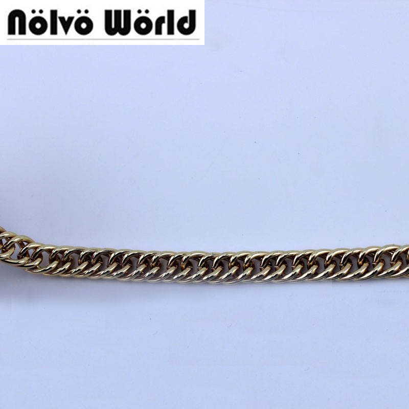 5 Meters 10mm Gold Silver Roller 2 Rings Braid Chain Link For Handbag Bag Purse Handle