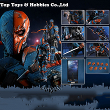 цены Full set action figure 1/6 Scale Batman:Arkham Origins Deathstroke Action Figure Toy Collectible Figure Doll Toys Gift with box