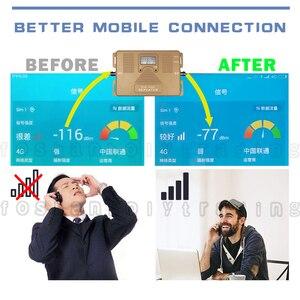 Image 2 - ATNJ 4G LTE 800 B20 LTE 1800 B3 듀얼 밴드 셀룰러 신호 리피터 4G LTE 증폭기 GSM 4G 800 1800 Moblie Booster Antenna Set