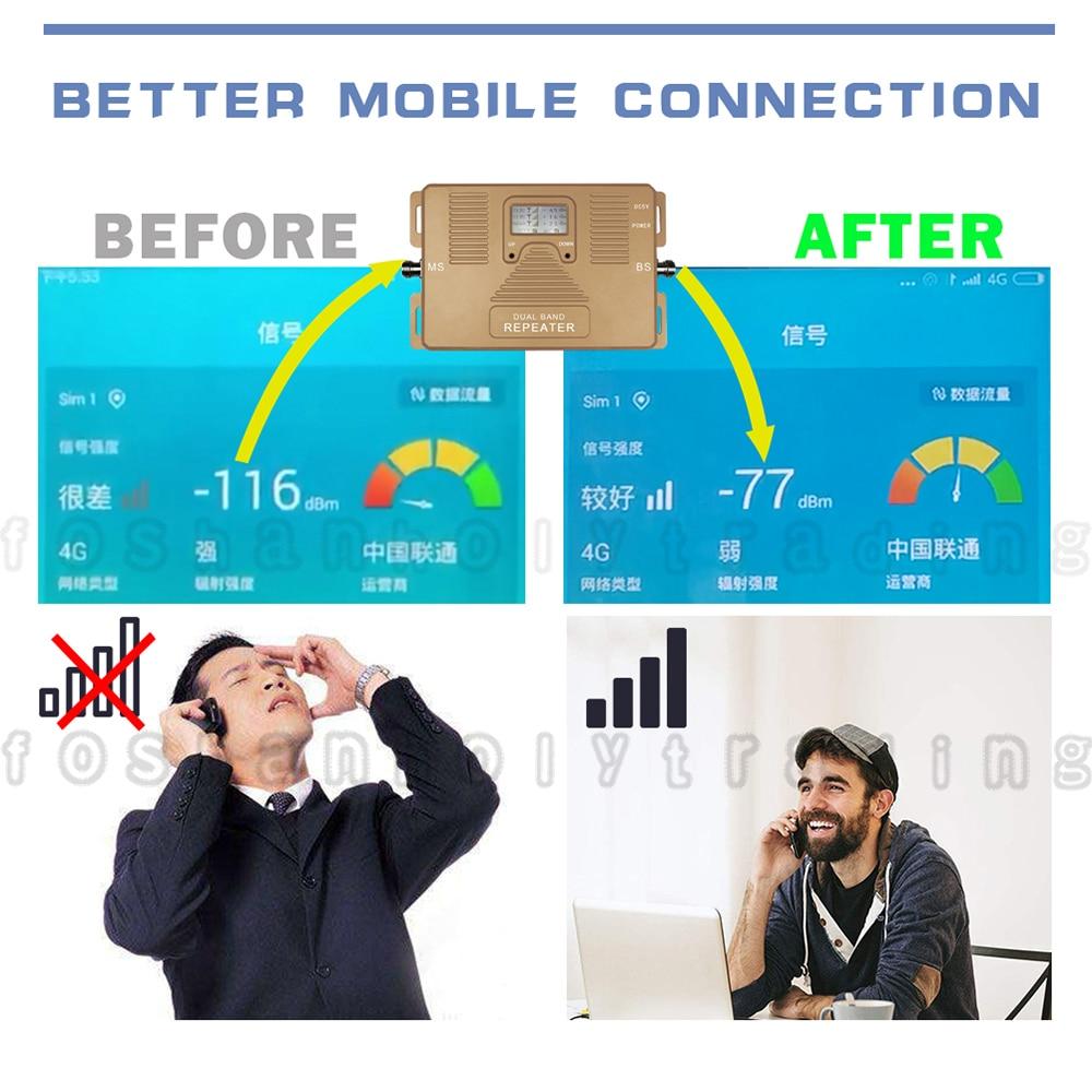 ATNJ 4G LTE 800 B20 LTE 1800 B3 Dualband Cellular Signal Repeater 4G - Reservdelar och tillbehör för mobiltelefoner - Foto 2
