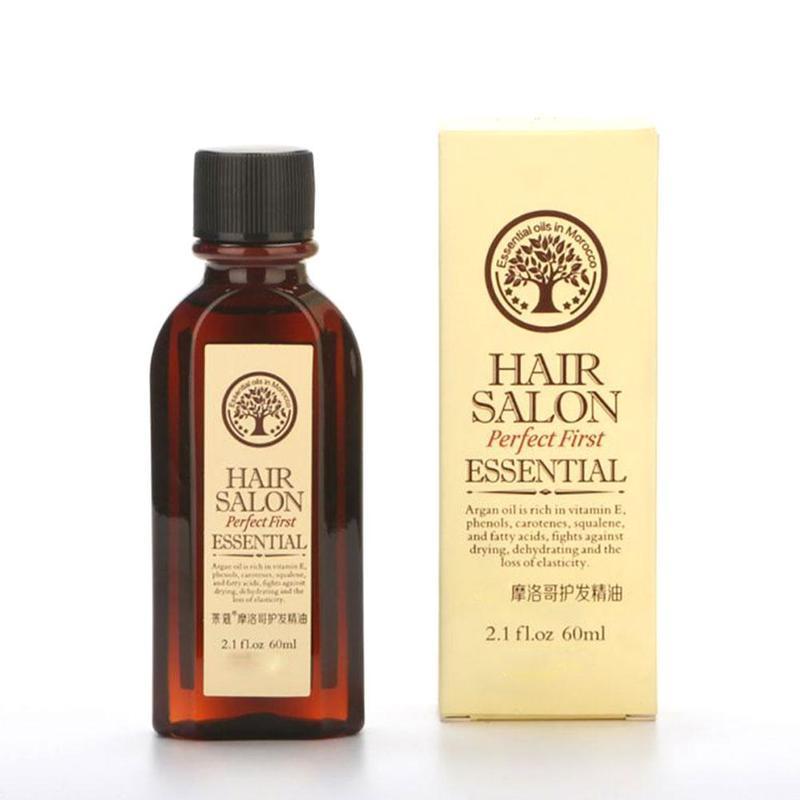 Natural Hair Essential Oil Deep Nourish Hairlines Repair Damaged Hair For Split Ends Long Hair Treatment Organic Argan Oil Serum 1