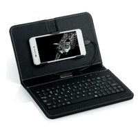For Blu Vivo 5R PU Leather Case Micro USB Keyboard Stand Cover For Android Mobile Phone