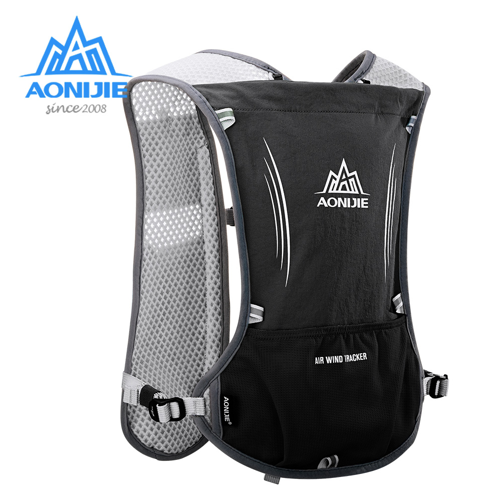 AONIJIE 5L Hydration Backpack Rucksack Bag Vest Harness For 1.5L Water Bladder Hiking Trail Running Marathon Race Sports E913S