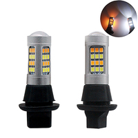 2pcs BA15s BAY15S 1156 1157 T25 T20 7443 2835 42SMD 20W Dual Color For Daytime Running