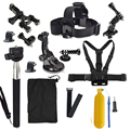 action camera mount Go Pro accessories Family Kit for xiaomi yi GoPro HD Hero 2 3 3+ 4 5 SJ4000 SJ5000 SJ6000 accessories set