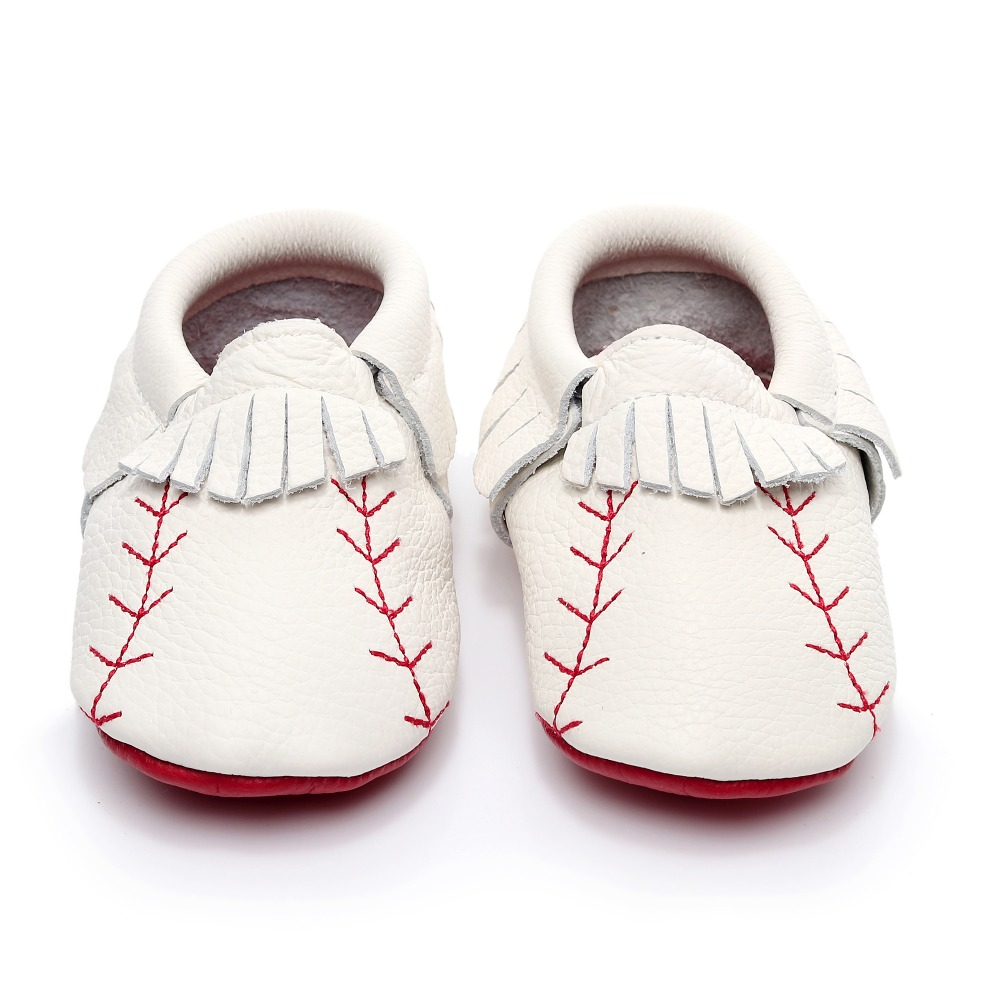 Fashion newborn baby shoes genuine leather baseball baby moccasins red sole first walker shoes tassel High quality bootFashion newborn baby shoes genuine leather baseball baby moccasins red sole first walker shoes tassel High quality boot