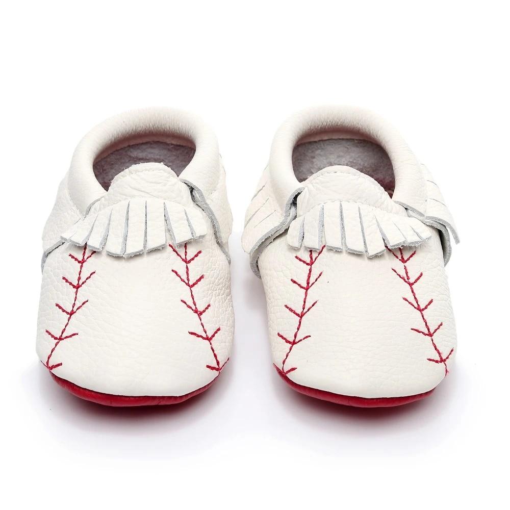 Baby Shoes Baseball 2 Print Mocs Baby Mocs