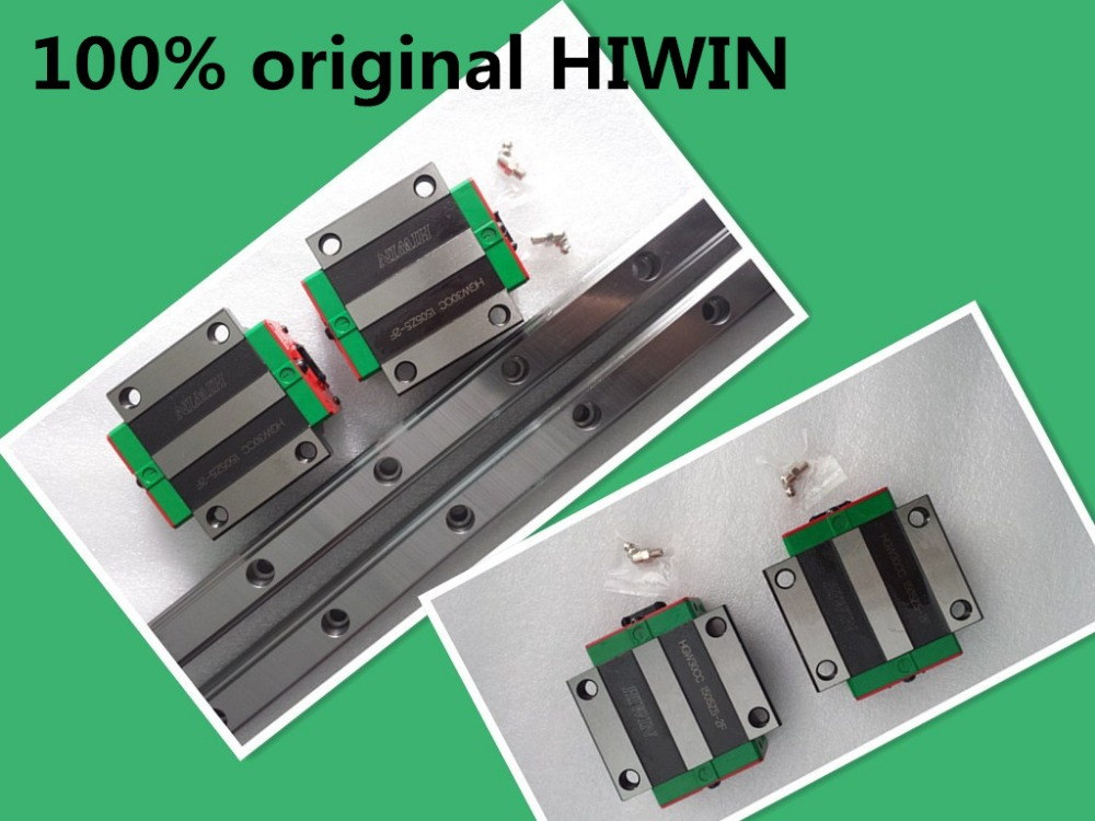 Original HIWIN Linear Guide 1pc HGR25 -L1000mm Rail + 2pcs HGW25CA or HGW25CC HGW HIWIN Flange Carriage free shipping to argentina 2 pcs hgr25 3000mm and hgw25c 4pcs hiwin from taiwan linear guide rail