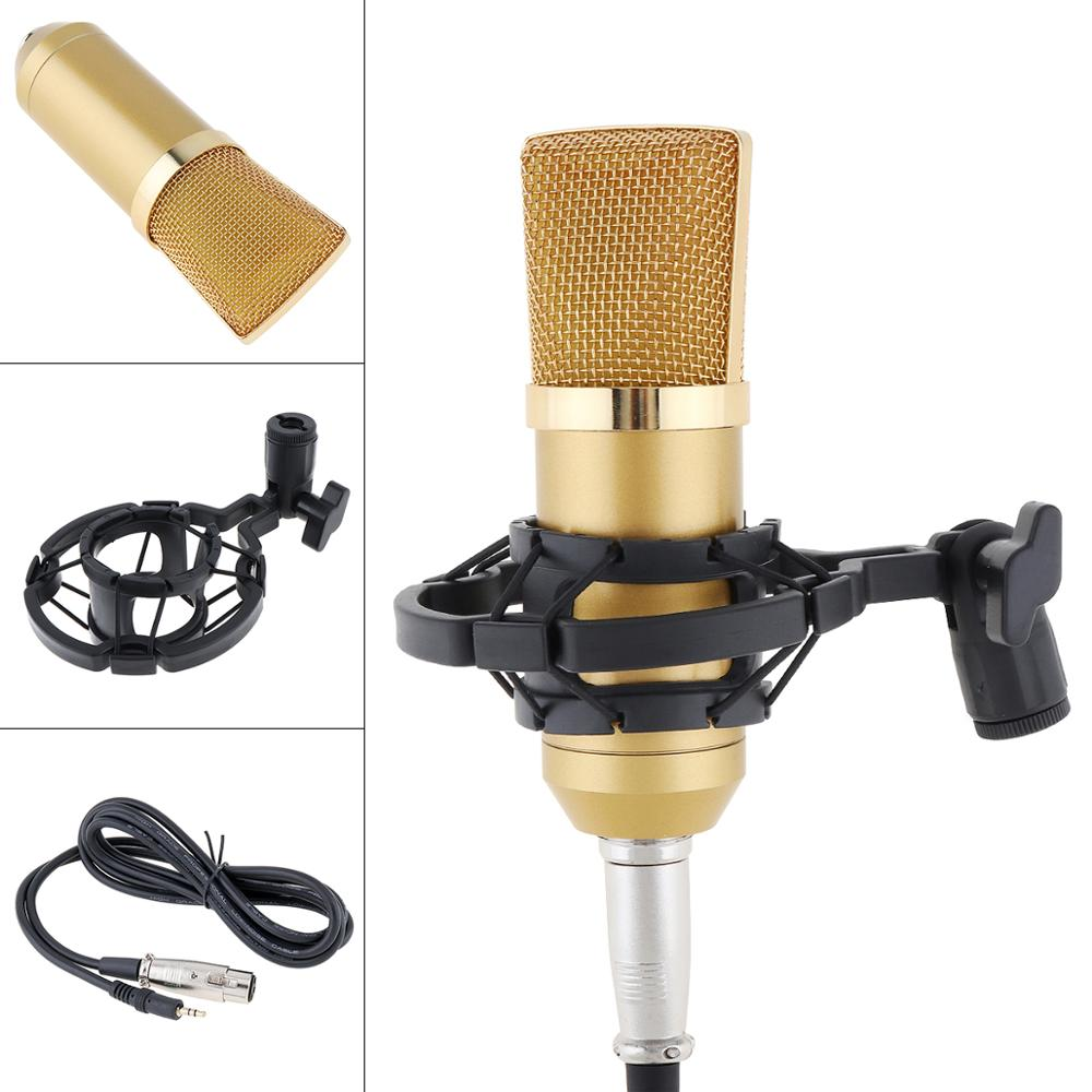 BM-700 Professional Condenser Microphone With Circuit Control And Gold-plated Large Diaphragm Head For Studio / KTV